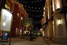 Bridgeport Village at night