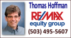 Thomas Hoffman with<br />RE/MAX Equity Group